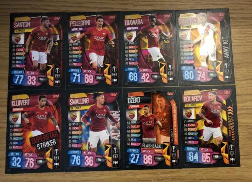 Match Attax EXTRA 2019//20 Set complet de tous les 8 AS Roma cartes