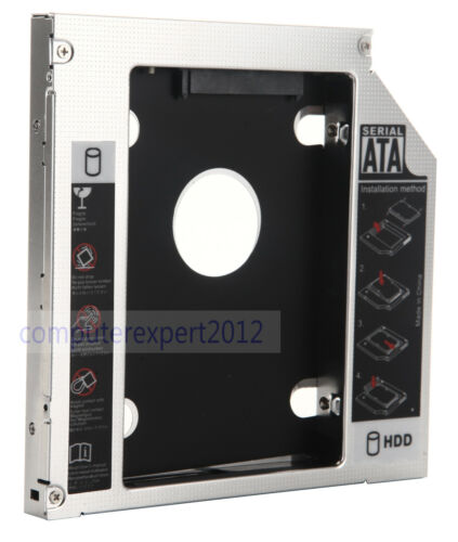 2nd SATA Hard Drive HDD HD SSD Caddy Adapter For Dell Inspiron N5010 N7010 N5110