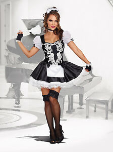 4cad861410b Details about French Kisses Sexy Hot Naughty Maid Costume by Dreamgirl  Style 10218