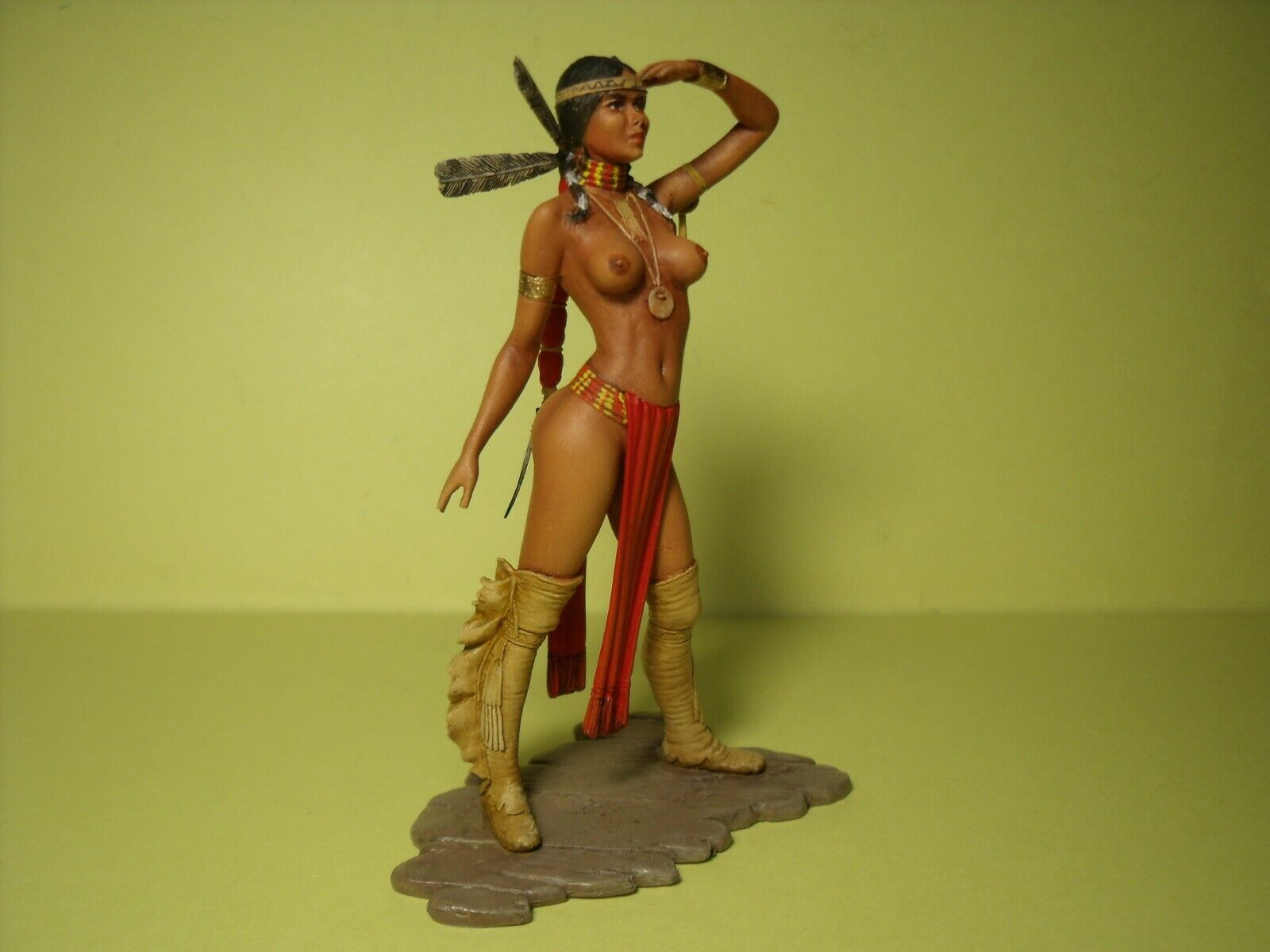 1 18  GIRL  cifra  SUMATI  PAINTED   BY  VROOM   FOR   EXOTO  MINICHAMPS 1 18