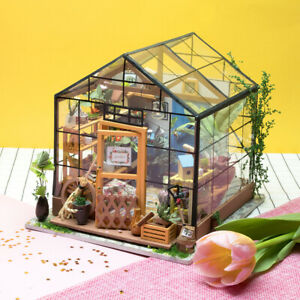 Rolife-DIY-Miniature-Dollhouse-Kits-Green-House-Wooden-Doll-House-Model-Kits-Toy