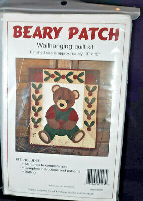 Beary Best Friends Cotton Quilt Panel or Wall Hanging