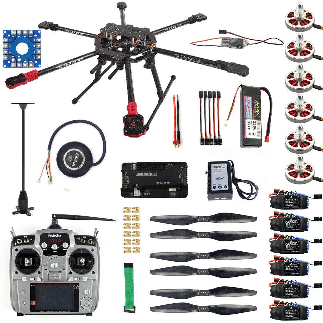 Hexacóptero Dron aviones Kit Tarojo FY690S Marco GPS APM transmisor F07803-A