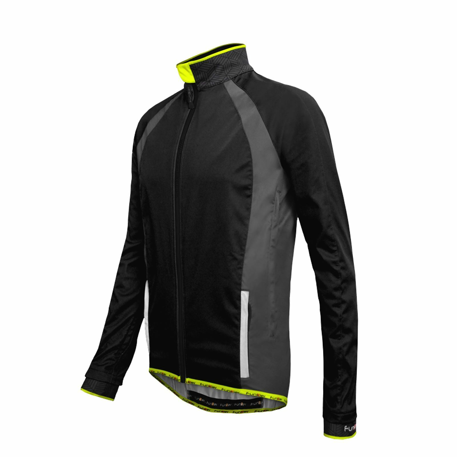 Chaqueta de ciclismo Funkier Tacona WJ-1323 Soft Shell Windstopper  Negro XXX-grande  80% de descuento