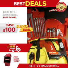 Hilti Te 5 Hammer Drill Wood Set Made In Germany Free Extras Included