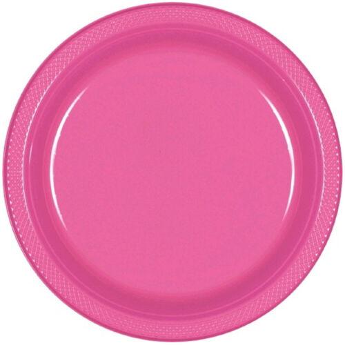 Coloré Plaques De Plastique x 20 22.8 cm partyware rouge bleu vert jaune rose divers