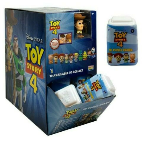 10 x puzzle palz toy story 4 blind bags and display box 3D eraser unopen new