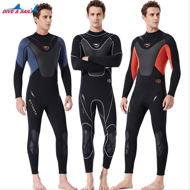 Men's Scuba Diving Suit Neoprene 3mm SCR Spearfishing Wetsuit Long Warm Surfsuit