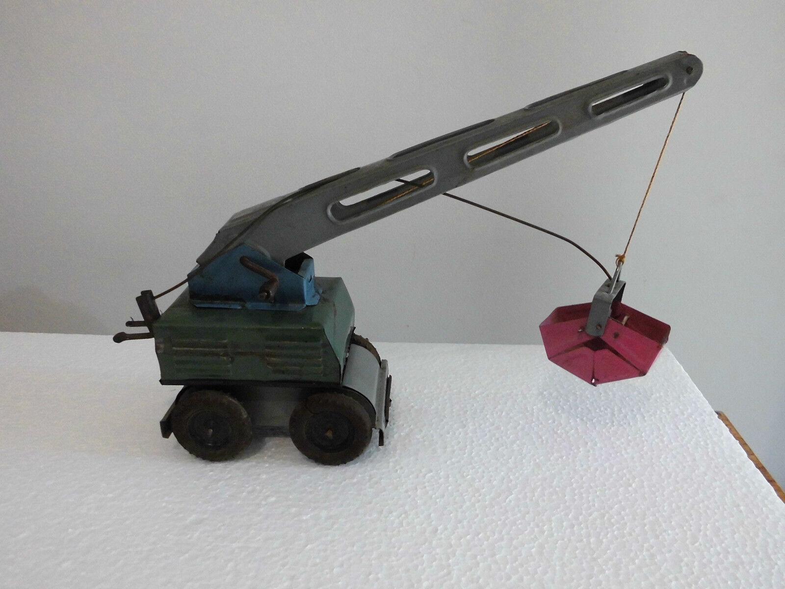 Rare Vintage Tin Toy Excavator  Tpk Metalik-Razgrad  Made in Bulgaria 1950s