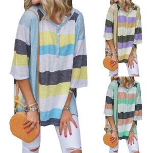 Fashion-Ladies-Long-Sleeve-Shirt-Loose-Casual-T-Shirt-Women-Top-Summer-Blouse