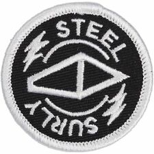 """Surly """"Steel"""" Round Sew-on Embroidered Bicycle Patch"""
