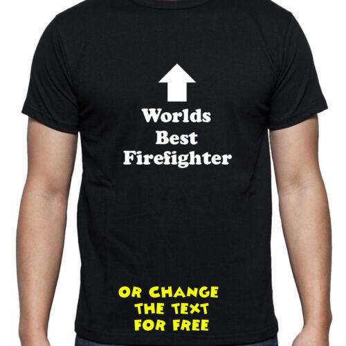 Personalizado Mundos mejor Bombero T Shirt Cumpleaños Regalo