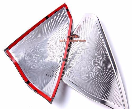 S//Steel Door Stereo Speaker chrome cover trim For Benz E W212 2010 Except 2door