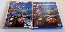 Cars 2 3D + Digital + Blu ray + DVD+ Lenticular Slipcover Pixar 786936817294
