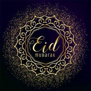 8x8ft Black Background Eid Mubarak Photography Gold Glitter Backdrop Show Party Ebay