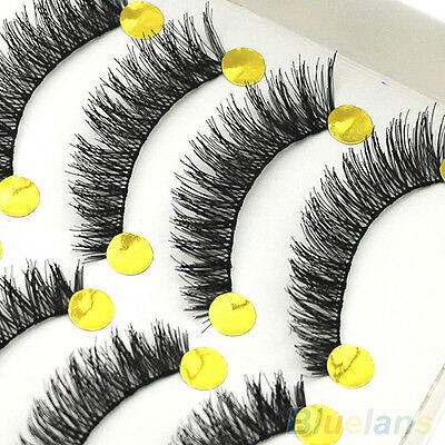 10 Pairs Handmade Long Thick Cross False Eyelashes Makeup Eye Lashes Extension