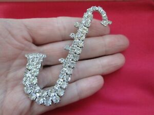 Sparkling-Glass-RhinestoneSilver-Tone-Saxophone-Musical-Instrument-Brooch-Pin