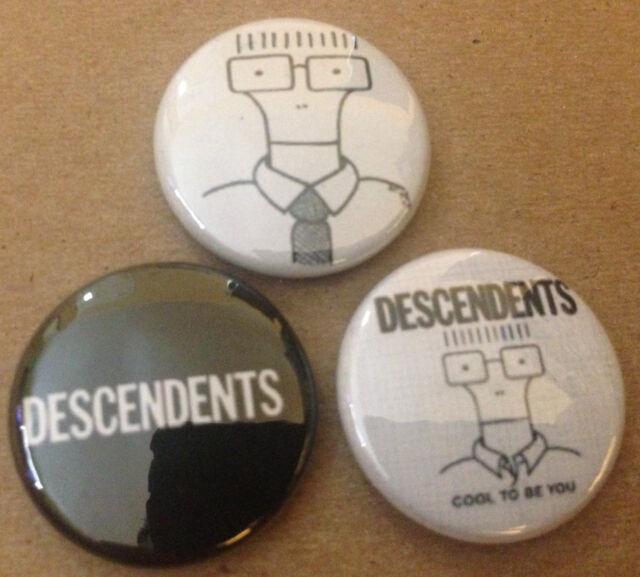 "Descendents set of 3 1"" pins buttons pinbacks  #2 Punk ALL MILO Misfits"