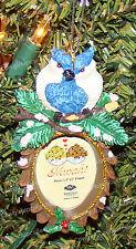 Nuzzling Blue Jays Frame Ornament (MWAH by Westland, 93965) Holds 1.5 x 2 Photo