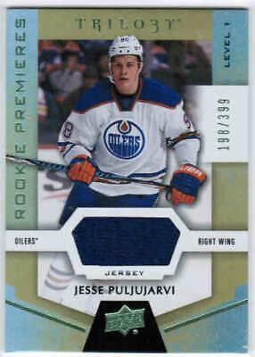 best cheap 42b79 52c89 16/17 TRILOGY JESSE PULJUJARVI #54 ROOKIE PREMIERES JERSEY /399 EDMONTON  OILERS | eBay