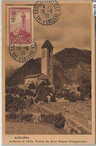 59146 - ANDORRA - POSTAL HISTORY: MAXIMUM CARD 1935 - ARCHITECTURE