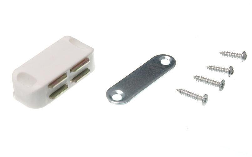 Neu Einzeln Magnetisch Fang / Platte und Befestigungs Schrauben Weiß 5KG Pull