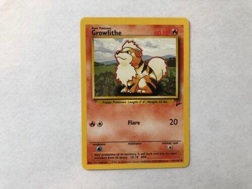 Near Mint Mint Base Set 2 Pokemon Card Growlithe 42//130