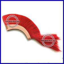 Red Plume Crest Brush Natural Horse Hair For 300 Spartn King Leonidas Helmet