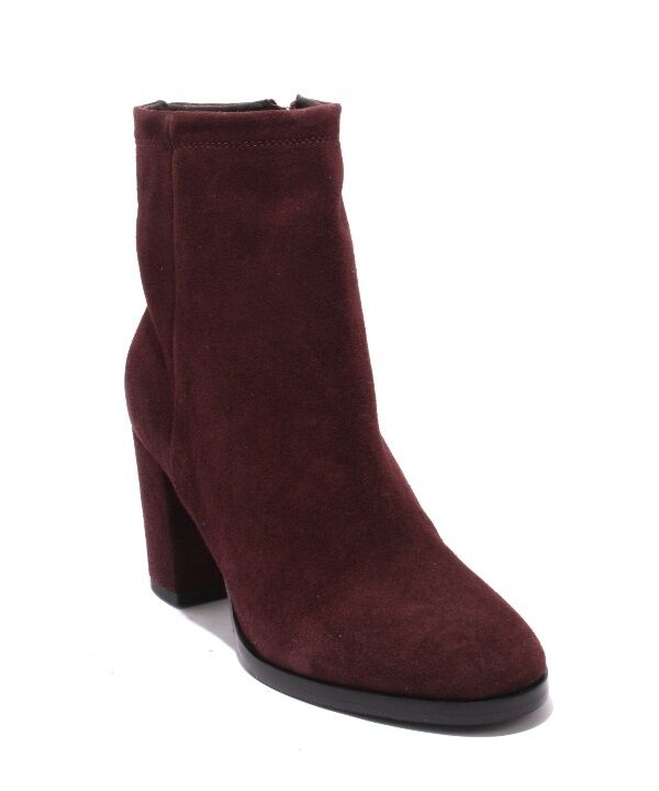 Mally 5475a Wine Suede / Zip-Up Heel Ankle Almond Toe Boots 37 / US 7