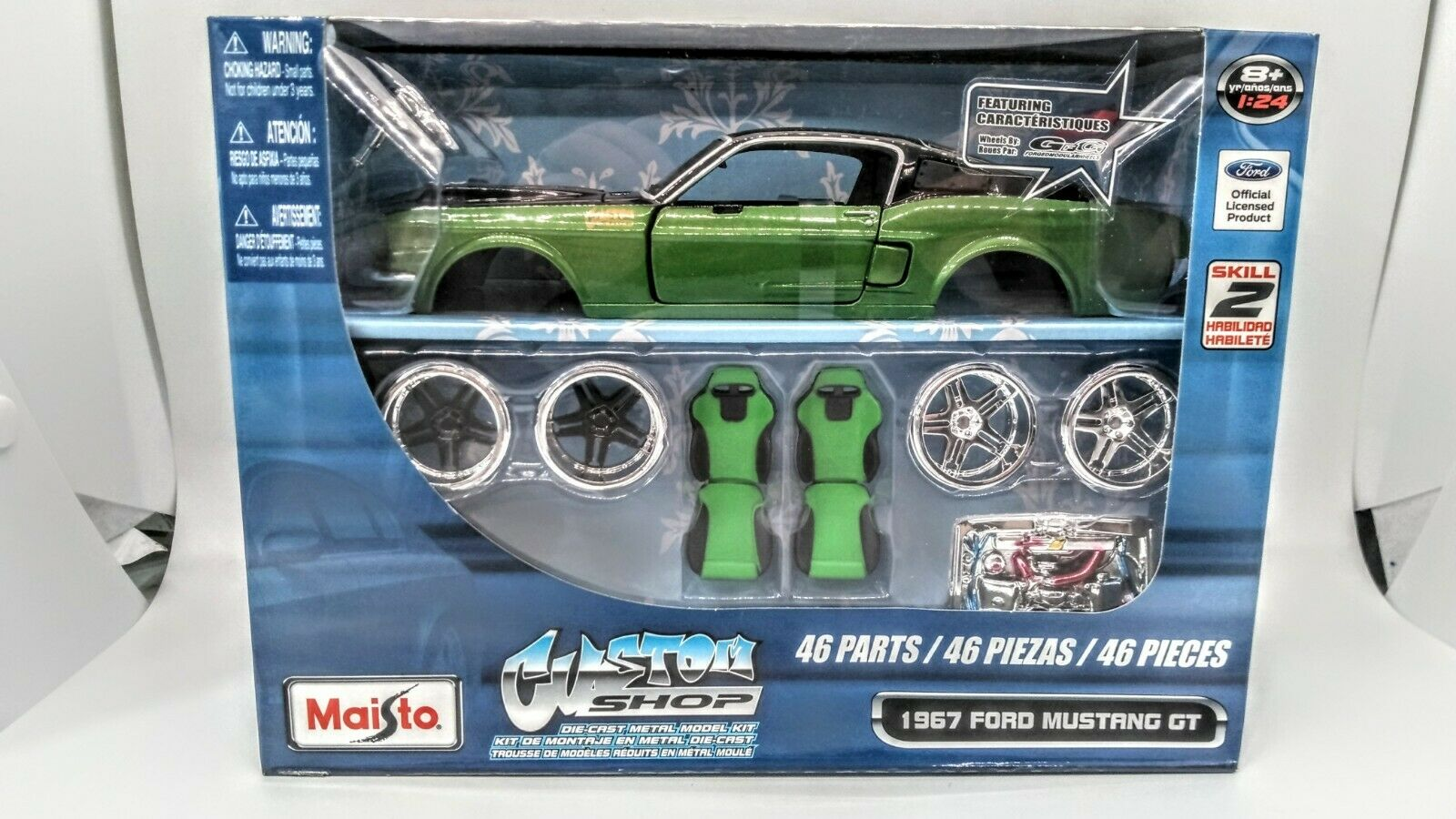 Burago 1 24 Die Cast Metal 5182 Ford Mustang Indy Model Kit For Sale Online Ebay