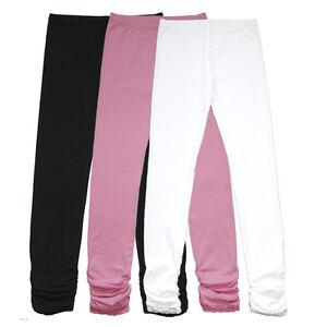 336912532c7075 Bienzoe Girl's Cotton Stretchy School Uniform Lace Antistatic Legging 3 Pack