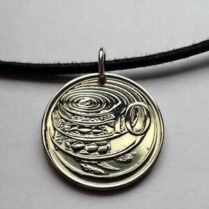 1977-2005-Cayman-Islands-10-Cent-coin-pendant-green-sea-turtle-tortoise-000467