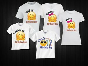 Image Is Loading Emoji Looks Who 039 S Birthday Boy Family