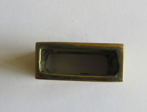 "Correa 25mm Pesada sólida de fundición de latón Keeper-Cinturón de lazo-Para Montar 1 /"""