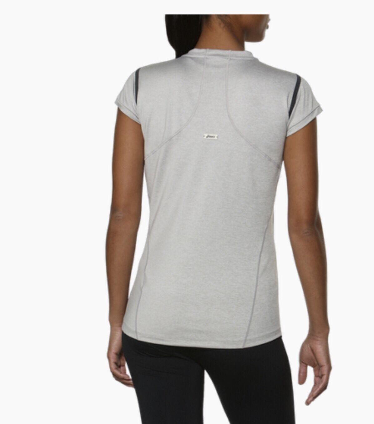 Asics Damen Laufen Spezial Performance Bequem T-Shirt Hellgrau GRÖSSE S