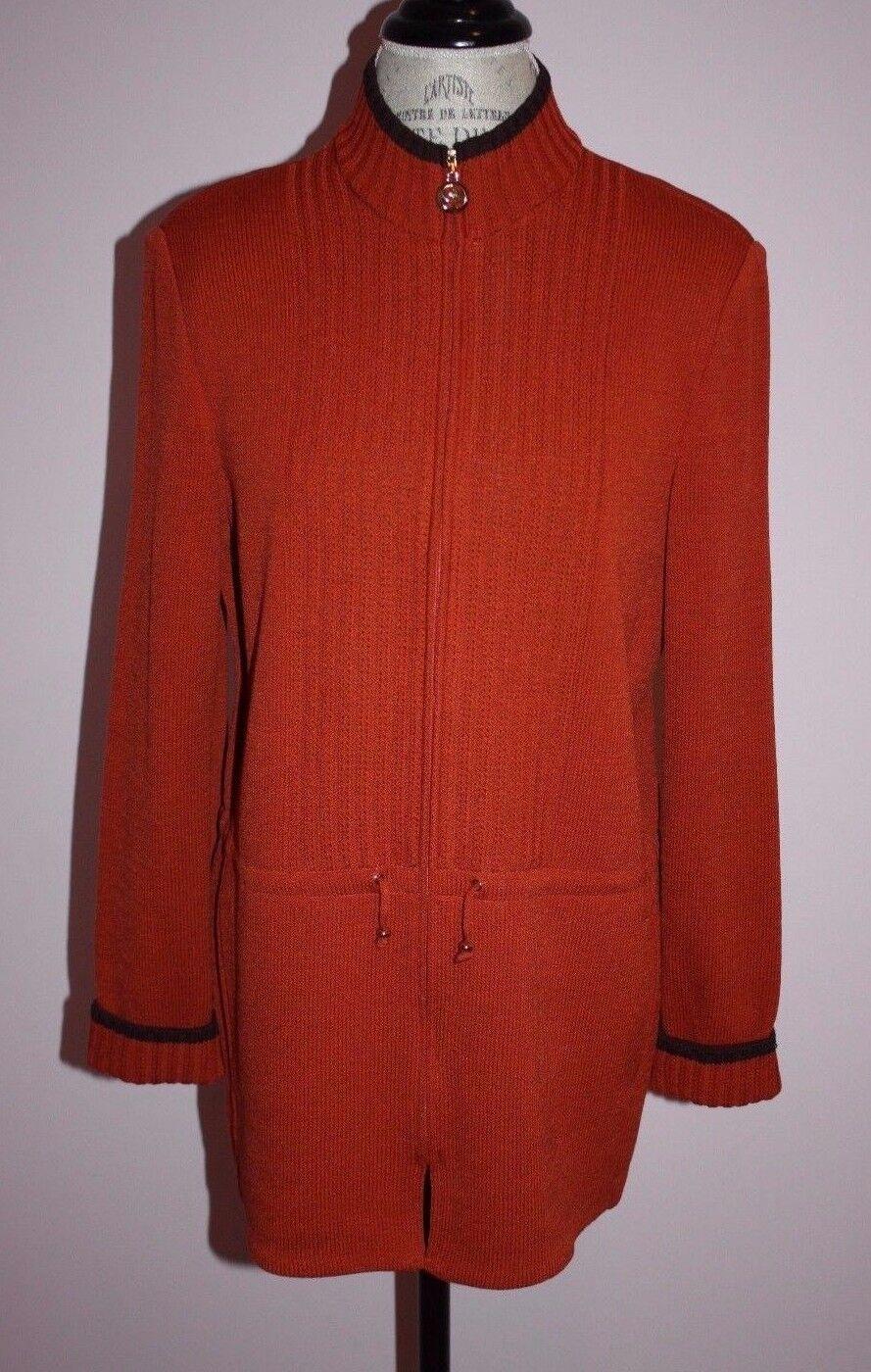 daMänner St. John Pumpkin braun Sweater Jacket Größe S