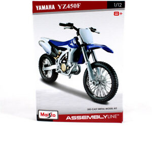 1-12-Maisto-YAMAHA-YZ450F-Assembly-Line-DIY-Motorcycle-Diecast-Metal-Model-kit