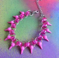 Spike Chainmail Bracelet Punk Rock Colorful Fun Chainmaille Bracelet Pick Color