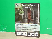 DICE MASTERS Dungeons & Dragons Basic Action Card - Finger of Death (only card)