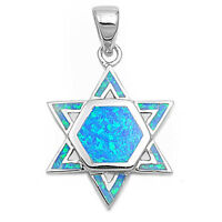 Opal Texas Star Of David .925 Sterling Silver Pendant on sale