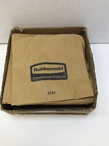 Rubbermaid Waxed Paper Sanitary Disposal Liners Brown 250 Pack FG6141000000