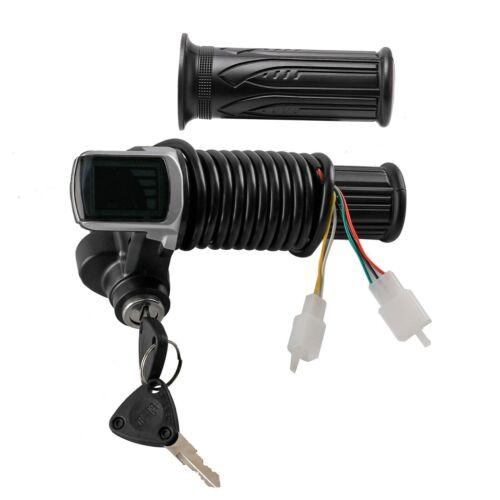 36V Twist Throttle Grips w// Electric Key Lock Power indicator E Bike Scooter