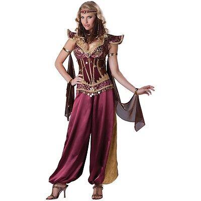 Arabian Princess Costume Womens Harem Girl Belly Dancer Halloween Fancy Dress