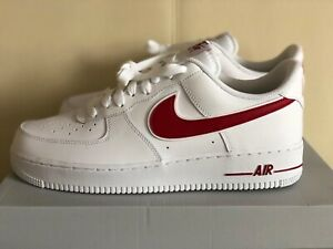 Details about Nike Air Force 1 '07 3 White Red AO2423 102 Leather AF1 Mens Shoes Low Sneakers