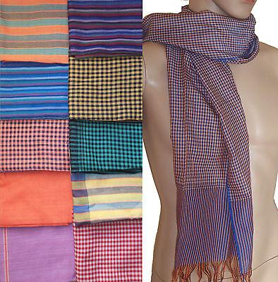 Cambodian Krama Kroma Cambodge écharpe Authentique foulard Khmer 100/% coton