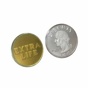 Extra Life Coin Quarter Oasis Ready Player One Props Collection Challenge Coin