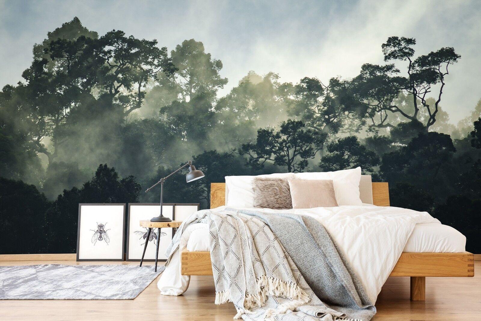905 Leaf Tree Green 3D Wallpaper Summer CA Murals Indoor