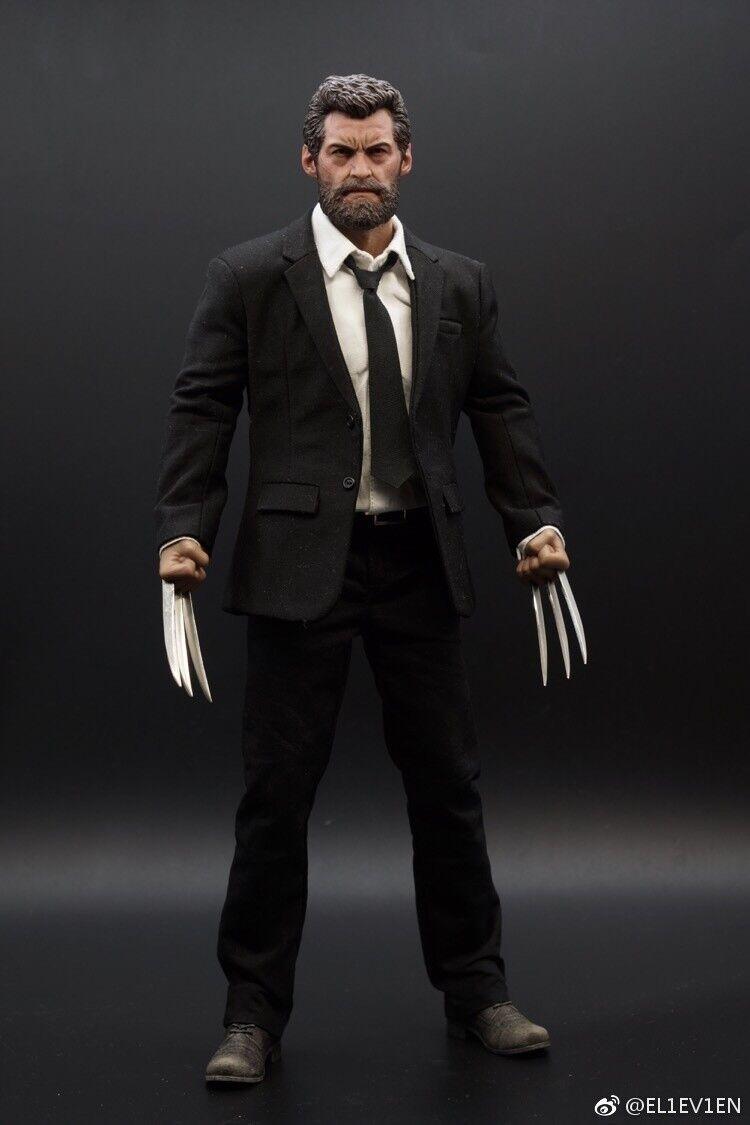 Eleven 1 6 Wolverine Logan ganghood Cuerpo Negro Traje Conjunto Con Caja existencias bajas
