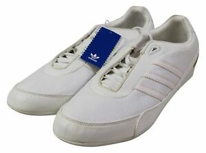 f3eded239c6def NEW ADIDAS Goodyear Racer SNEAKERS Mens US 14 Low All White Adi ...