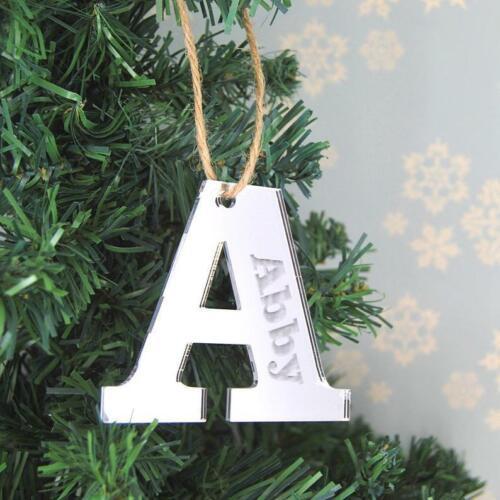 Personnalisé Lettre Nom Étiquettes-Hanging Miroir Décorations-Étiquettes-cadeaux